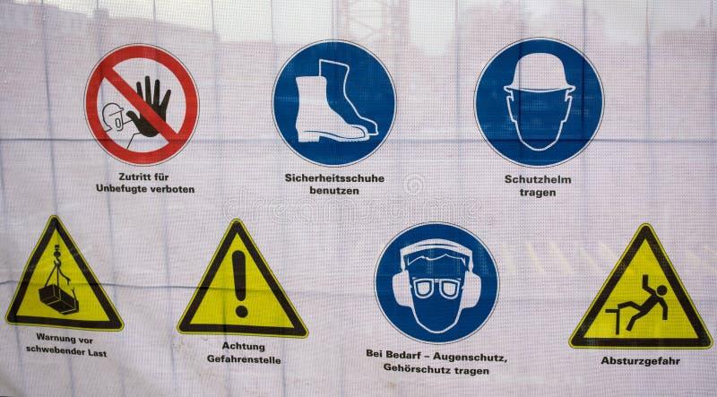 Hazard warnings-Hamburg royalty free stock photo