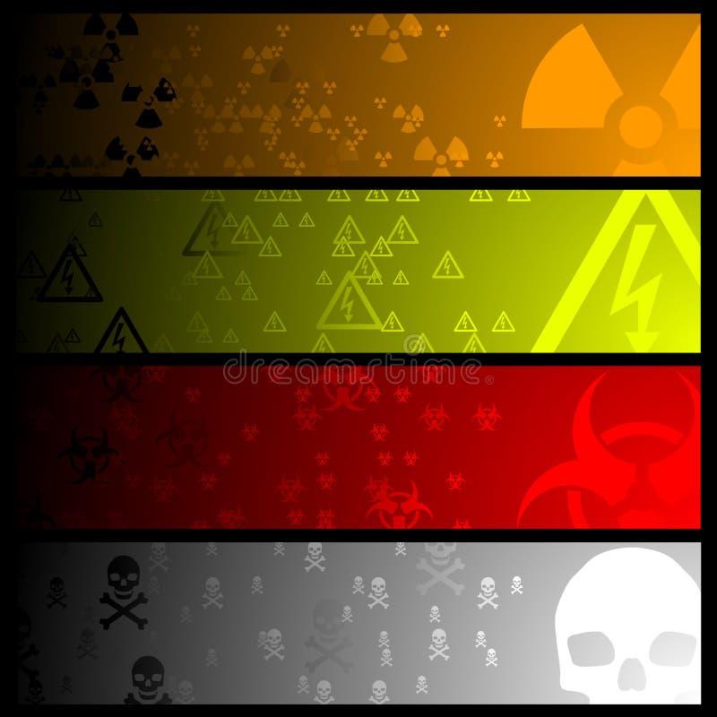 Hazardous banners stock illustration