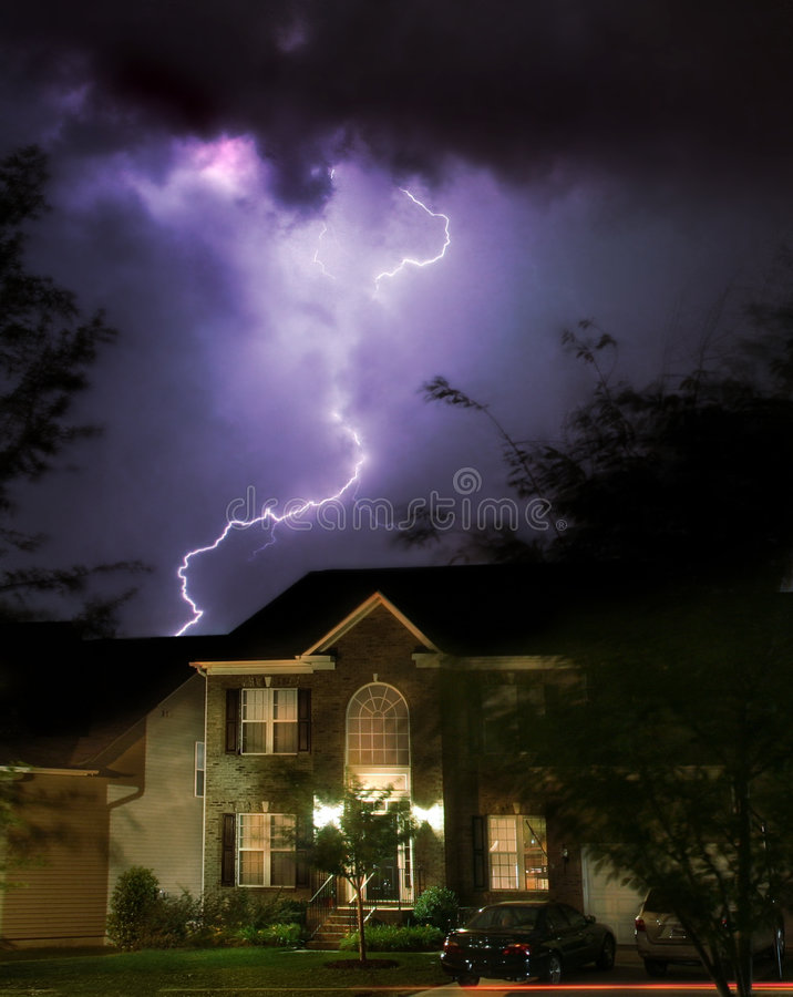Hazardous conditions for homeowners stock photos