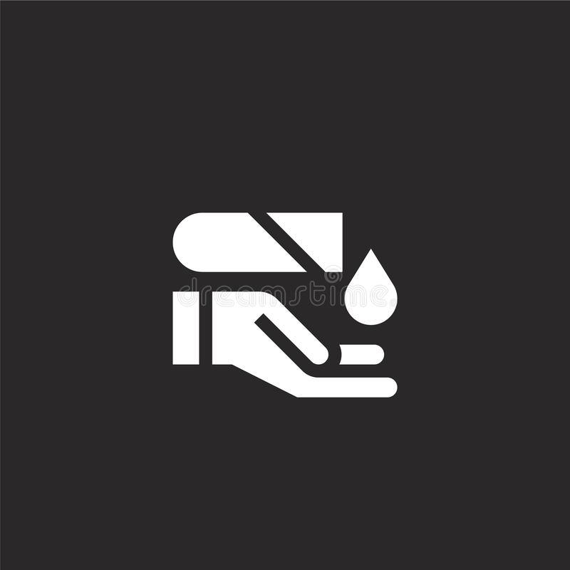 Hazardous icon. Filled hazardous icon for website design and mobile, app development. hazardous icon from filled emergency. Services collection isolated on vector illustration