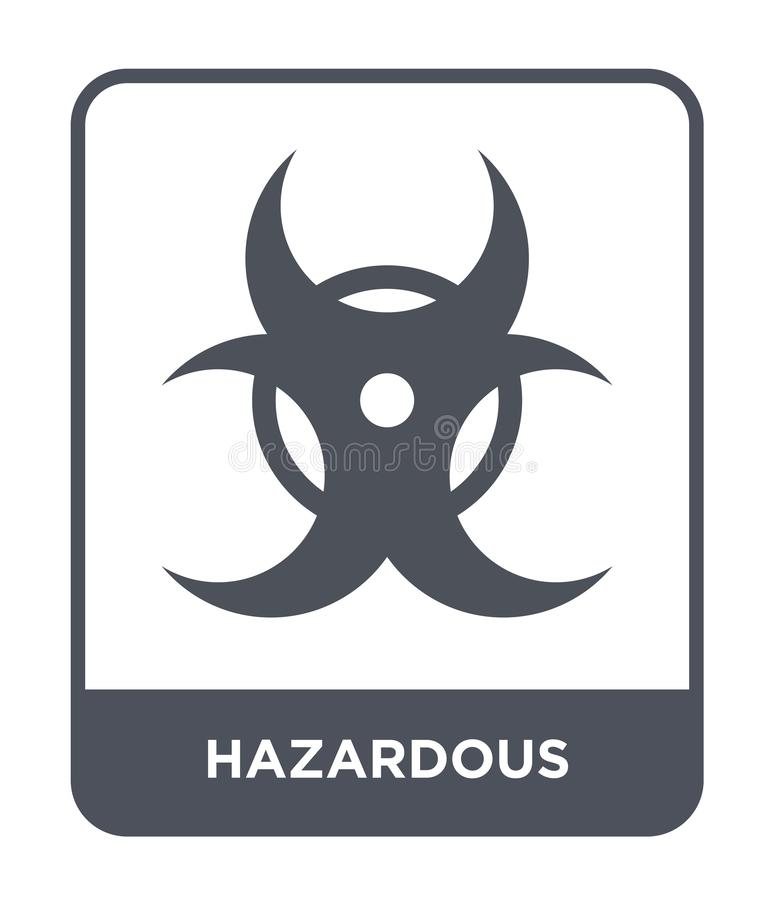 hazardous icon in trendy design style. hazardous icon isolated on white background. hazardous vector icon simple and modern flat royalty free illustration