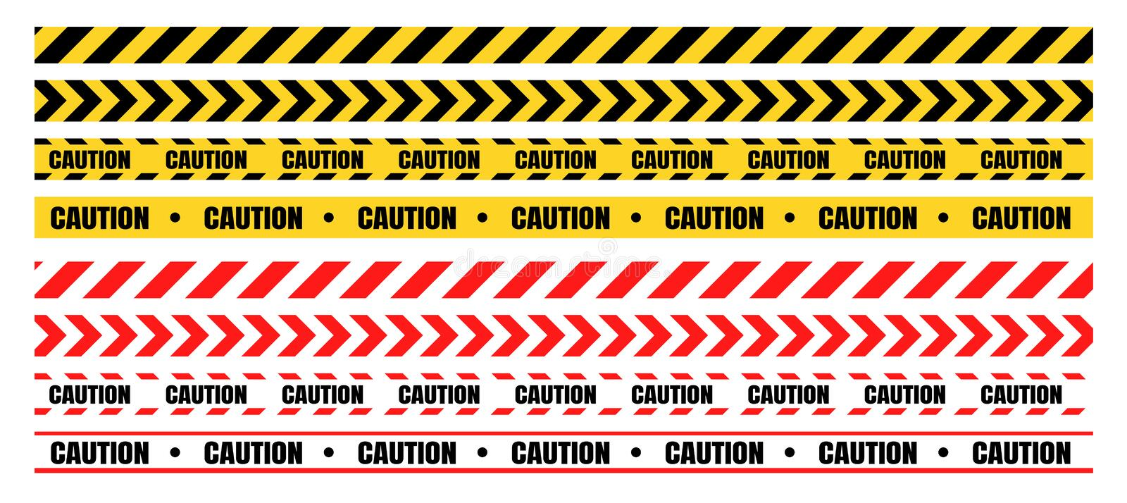 Hazardous warning tape sets must be careful for construction and crime.  royalty free illustration