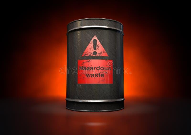 Hazardouz红色桶 免版税库存照片