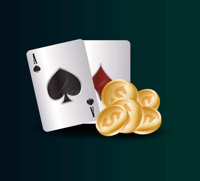 Hazardu kasyna pojęcie ilustracja wektor