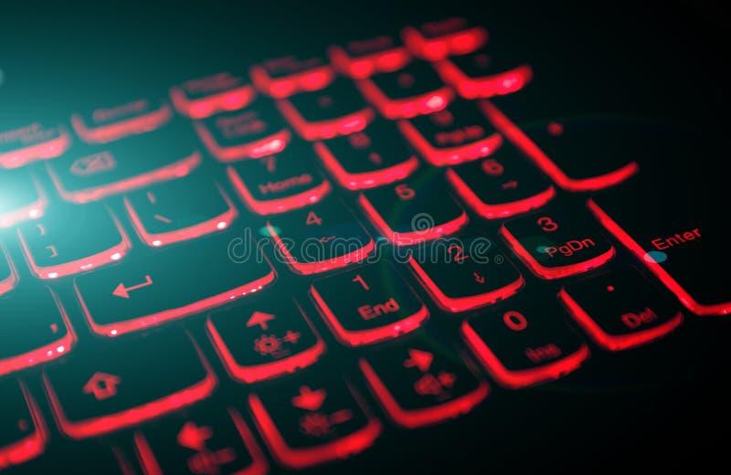 Hazardu laptopu klawiatura obraz royalty free