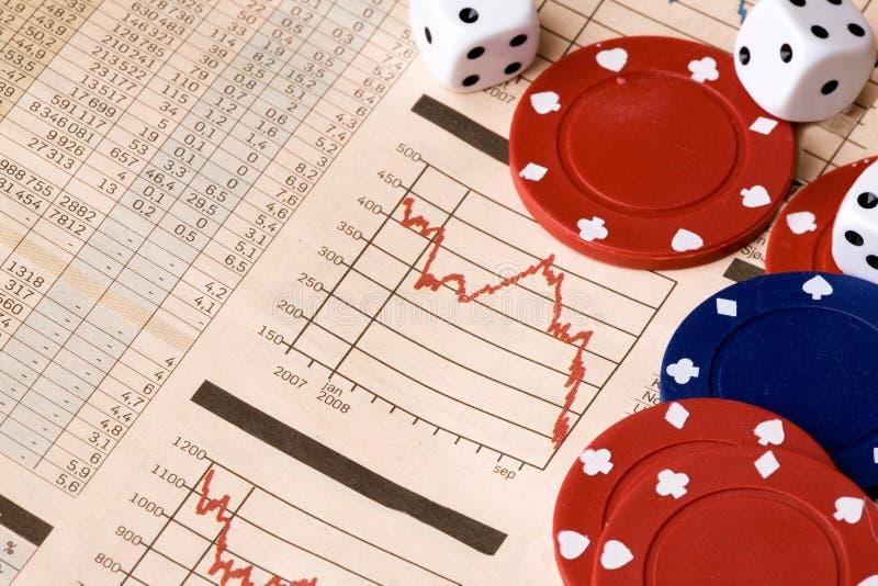hazardu rynku zapas obraz stock