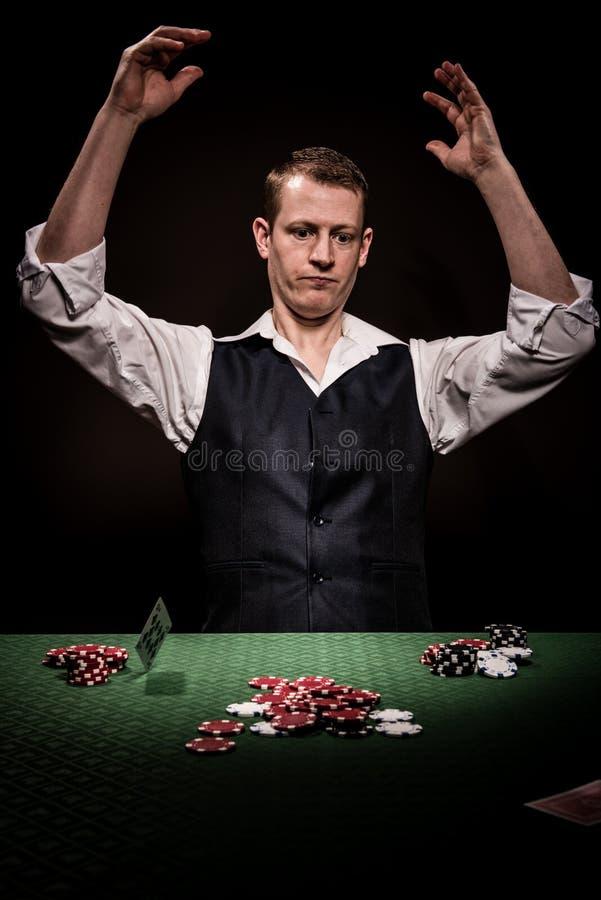Hazardzista jest gniewny zdjęcie royalty free