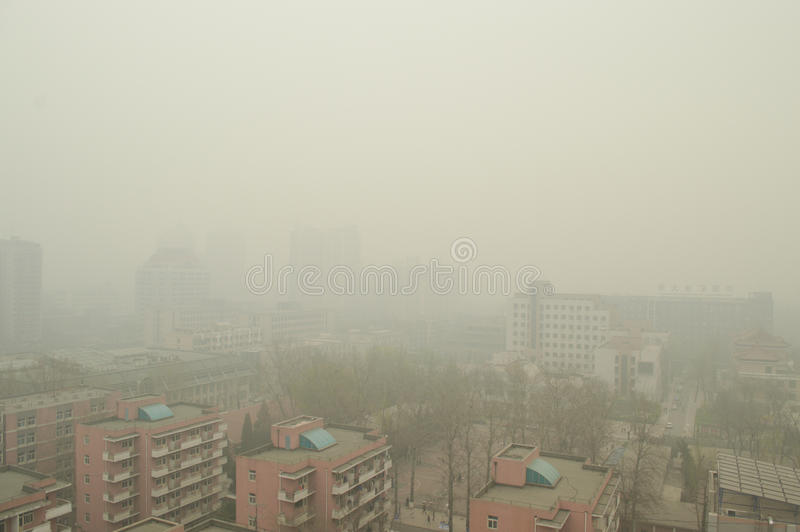 Haze in Beijing stock photography