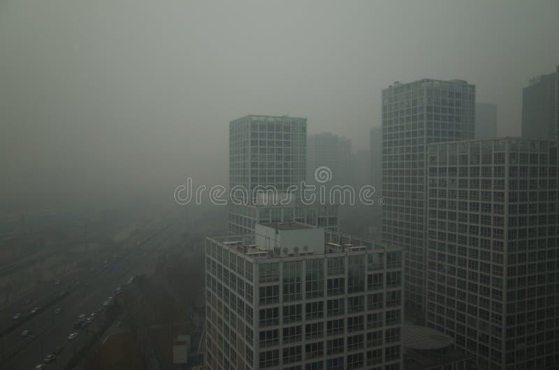Haze heavier around Beijing royalty free stock images