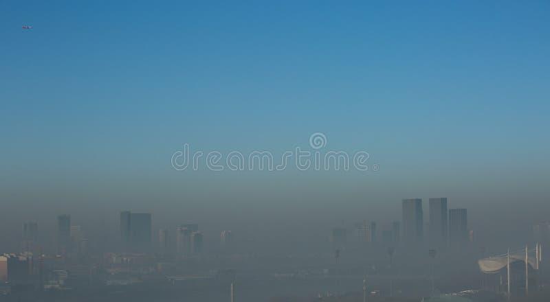 Haze heavier around Beijing. Beijing Air Pollution Draws Rare `Orange` Alert As Thick Haze Shrouds City,Jan.2, 2017 stock images