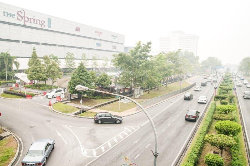 Haze Hit Kuching City immagine stock