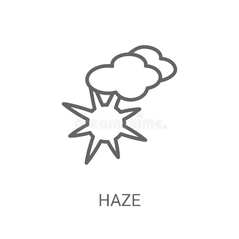 Haze icon. Trendy Haze logo concept on white background from Wea. Ther collection. Suitable for use on web apps, mobile apps and print media royalty free illustration