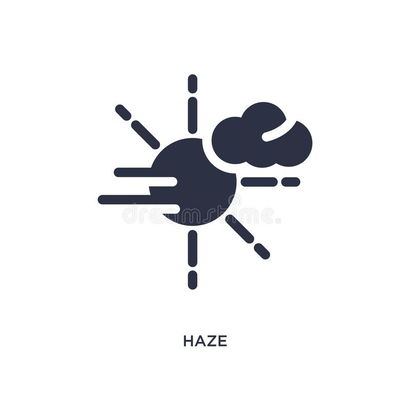 Haze icon on white background. Simple element illustration from weather concept. Haze isolated icon. Simple element illustration from weather concept. haze royalty free illustration