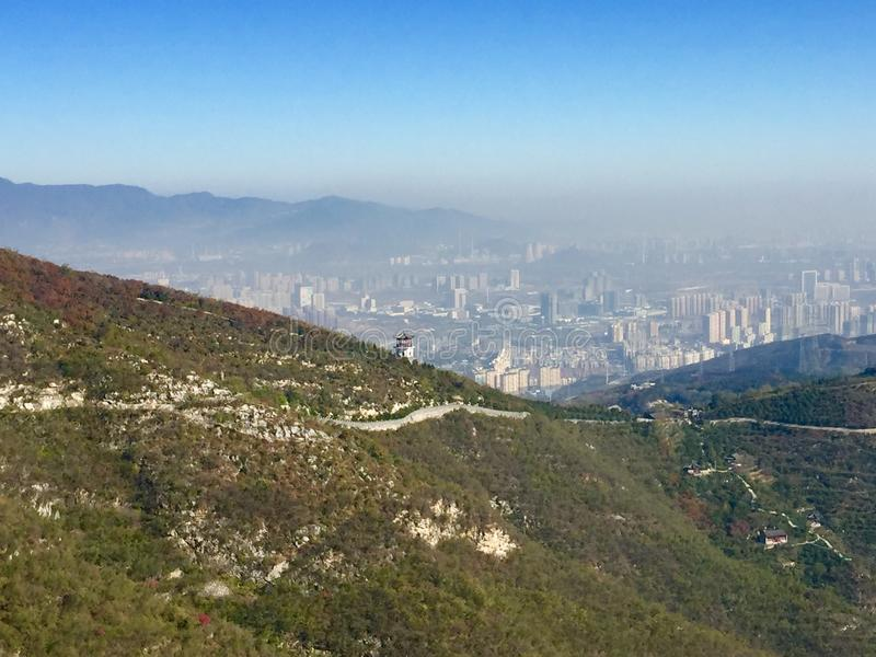 Haze over Beijing city royalty free stock photos