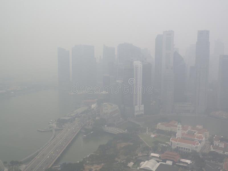 Haze over Singapore. Haze over city centre, singapore stock images