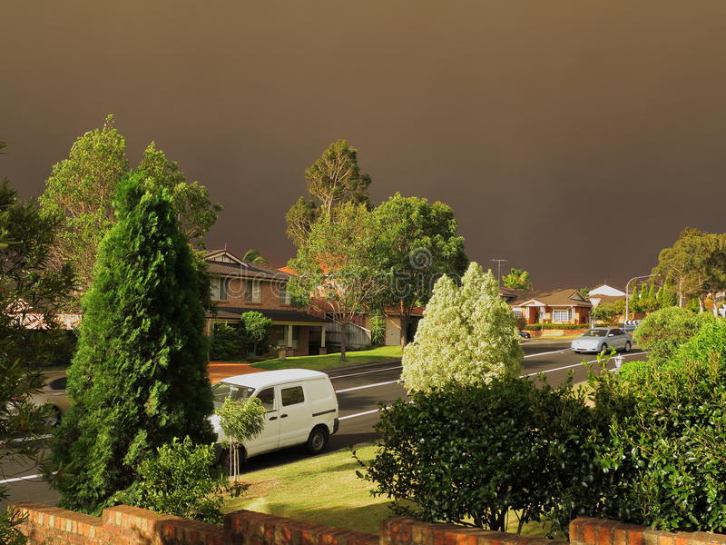 Download Dark Haze Over District By Bushfires Stock Photography - Image: 34649632