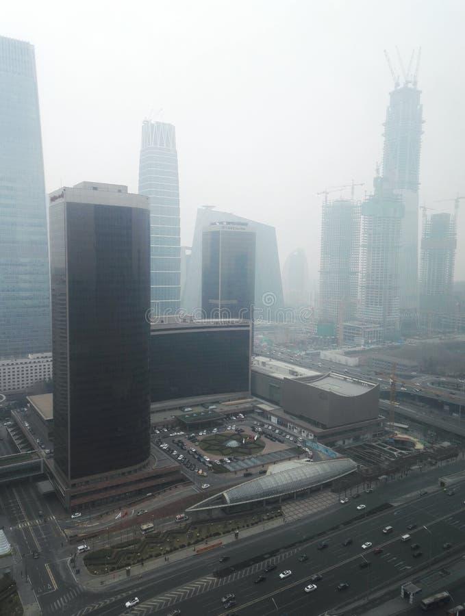 Haze pollution Beijing city 2 stock photos