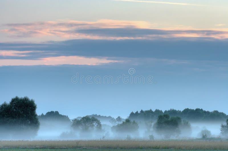 haze wschód słońca obrazy stock