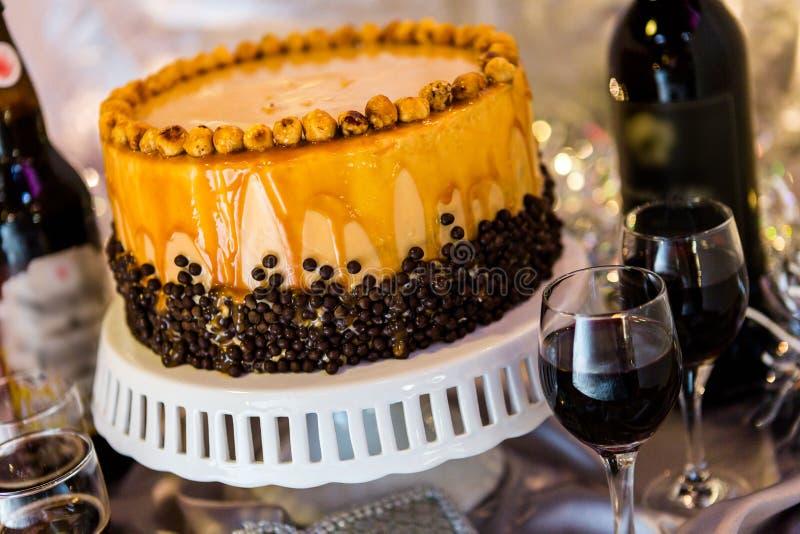 Hazelnoot Torte stock afbeeldingen