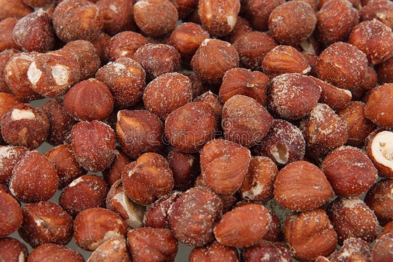 Hazelnut background stock photos