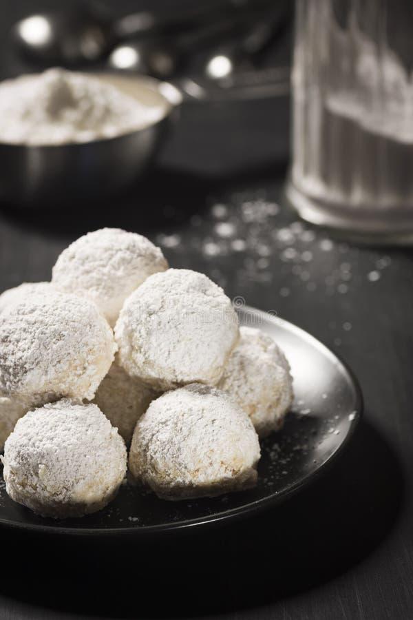 Download Hazelnut Balls Mexican Wedding Cookies Or Russian Tea Cakes Stock Image