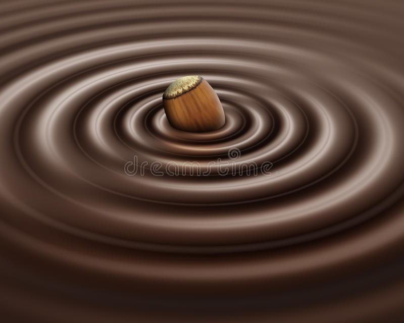Download Hazelnut chocolate stock illustration. Illustration of chocolate - 11050023