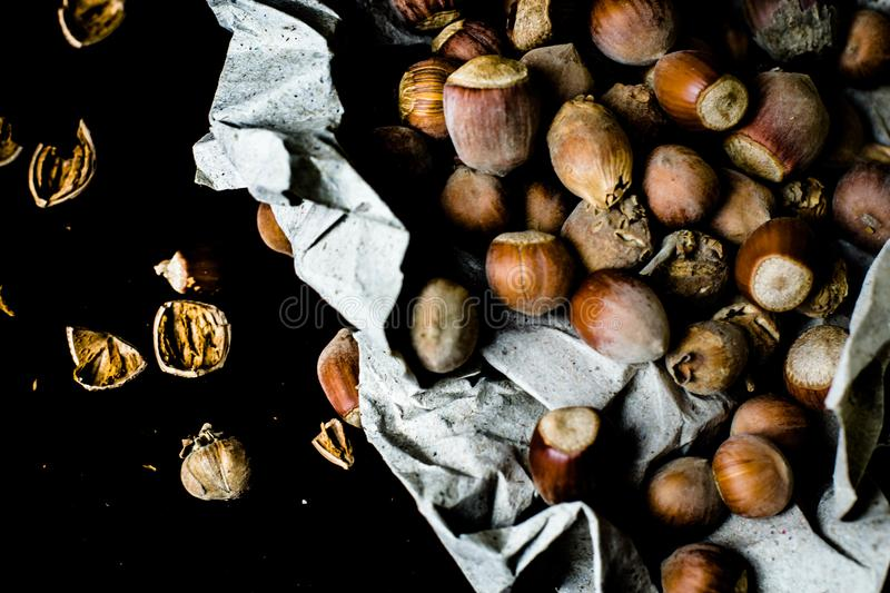 Hazelnut - one of the most useful and rich in its properties. stock images