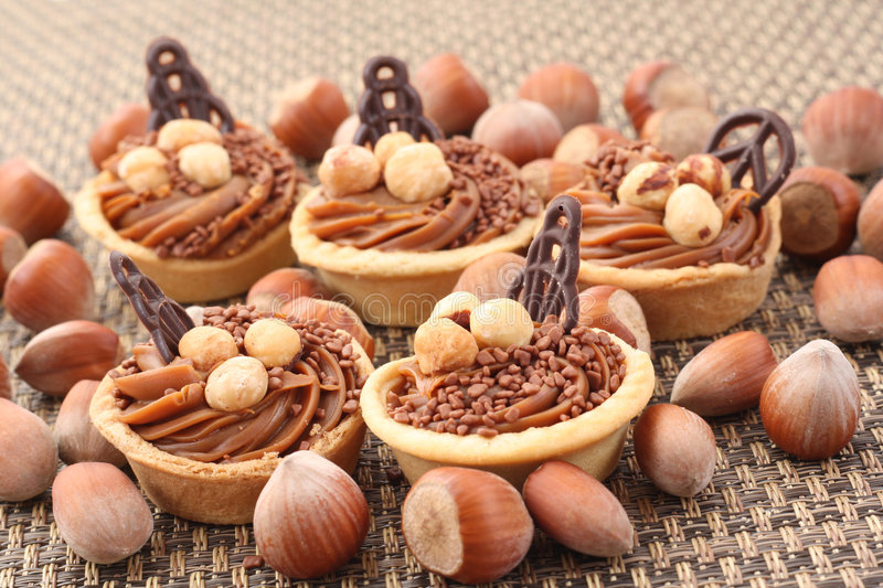 Hazelnuts cookies royalty free stock images