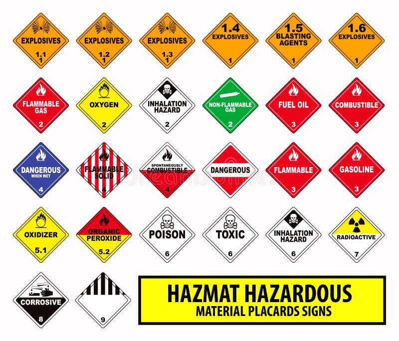 Hazmat危险物料张贴标志 库存例证