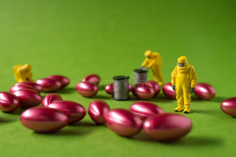 Hazmat-Inspektions-Pillen lizenzfreies stockbild