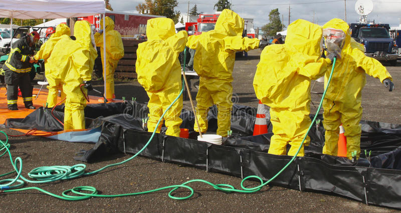 HAZMAT Team Clean Up 2 photo stock