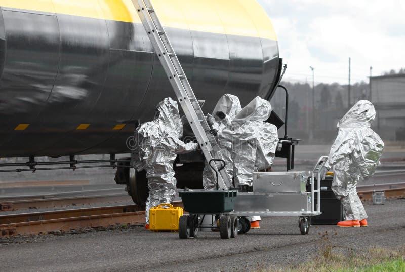 Download HAZMAT Team Sets Up Ladder And Equipment Stock Image - Image: 33225309