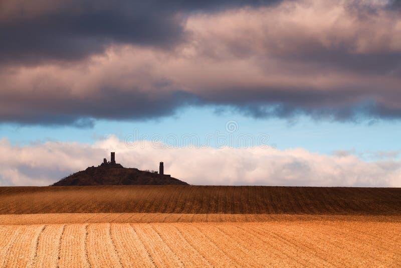 hazmburk grodowe ruiny zdjęcia royalty free