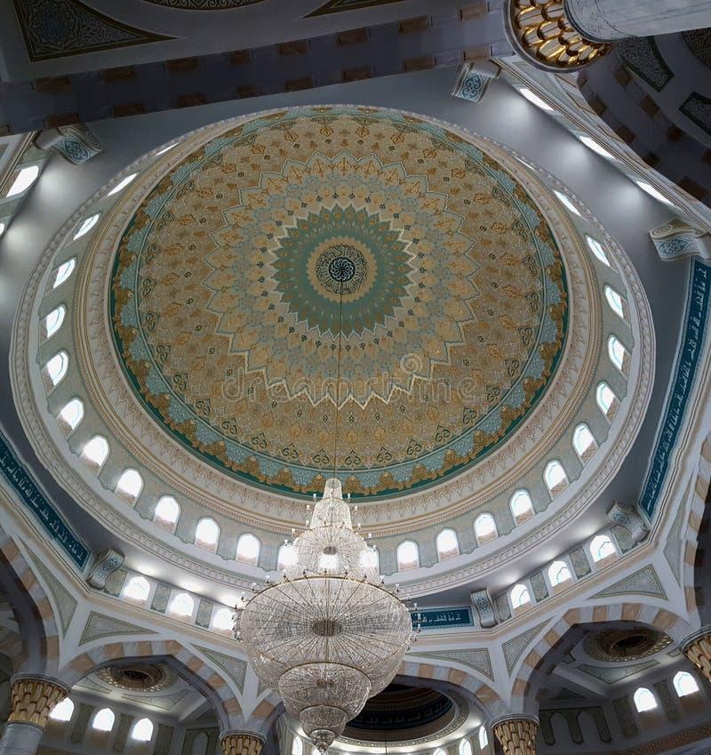 Hazrat苏丹清真寺在阿斯塔纳,卡扎克斯坦 免版税库存图片