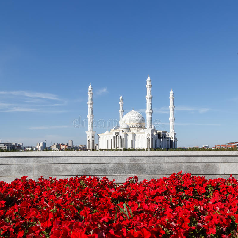 Hazrat Sultan Mosque Alma Ata, Kazachstan royalty-vrije stock afbeeldingen