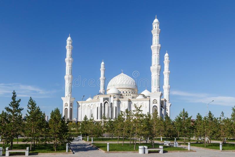 Hazrat Sultan Mosque Alma Ata, Kazachstan stock afbeelding