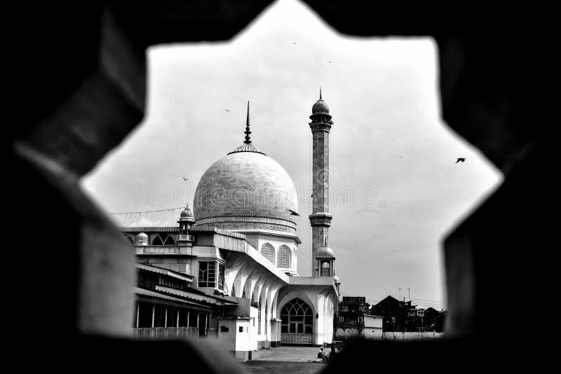 Hazratbal寺庙 免版税库存图片