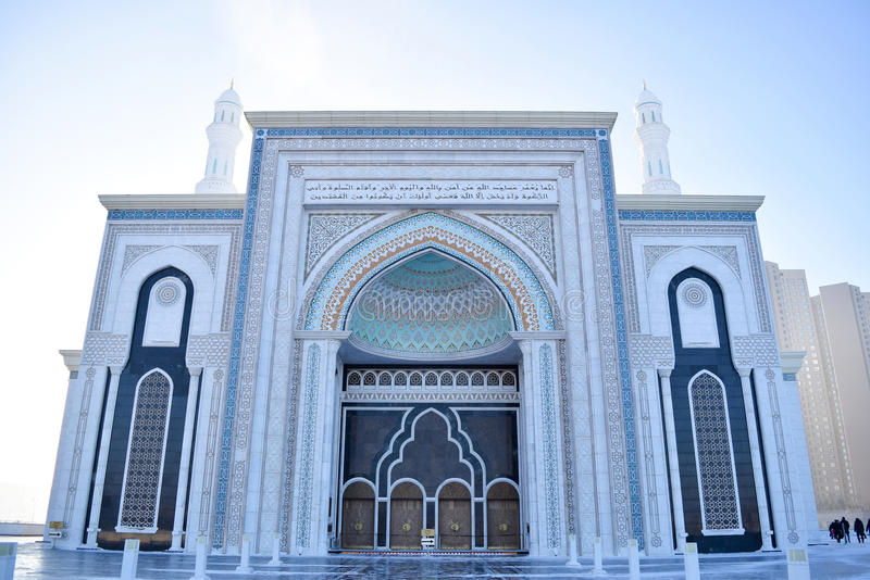 Hazret Sultan Mosque stock foto
