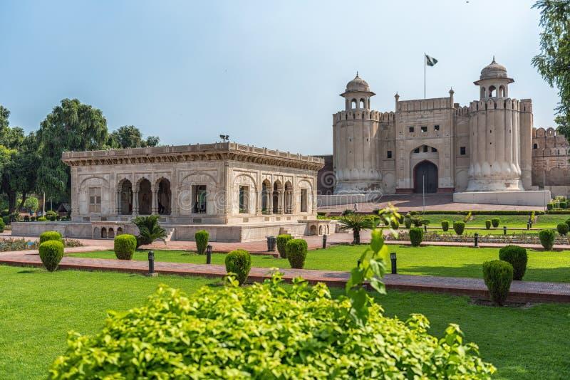 Hazuri Bagh ogród, Lahore, Pakistan fotografia royalty free