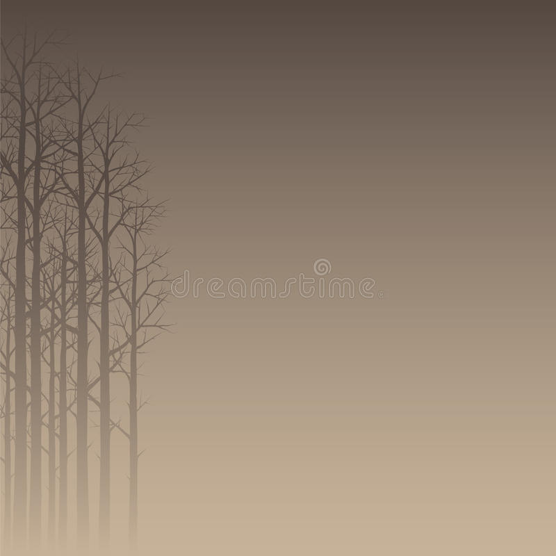Hazy Forest Silhouette. Vector Illustration Of A Hazy Forest Silhouette stock illustration