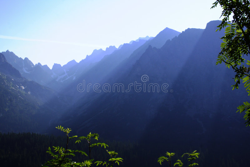 Hazy morning in high tatras royalty free stock photography