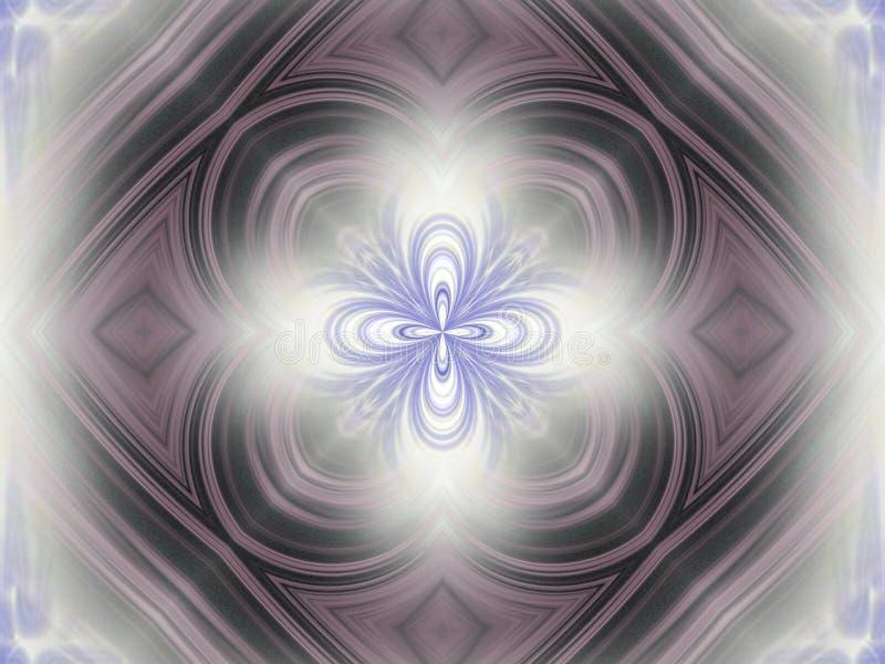 Hazy radiance. Hazy light kaleidoscope of line stock illustration