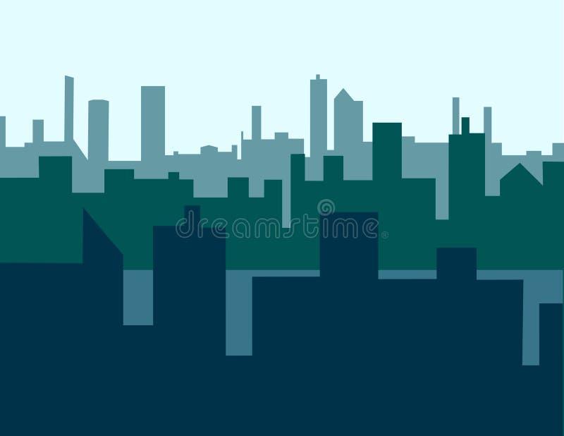 Hazy Skyline vector illustration