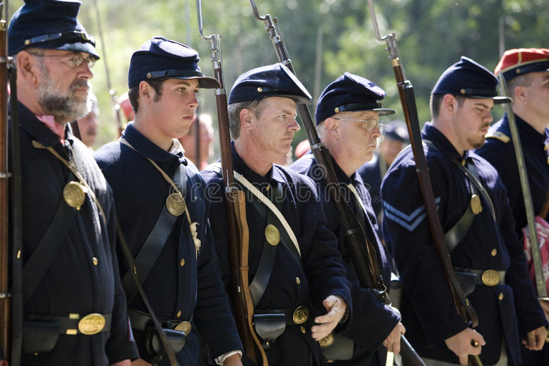 HB Civil War Re-Enactment 10 - Union Soldiers royalty free stock photos