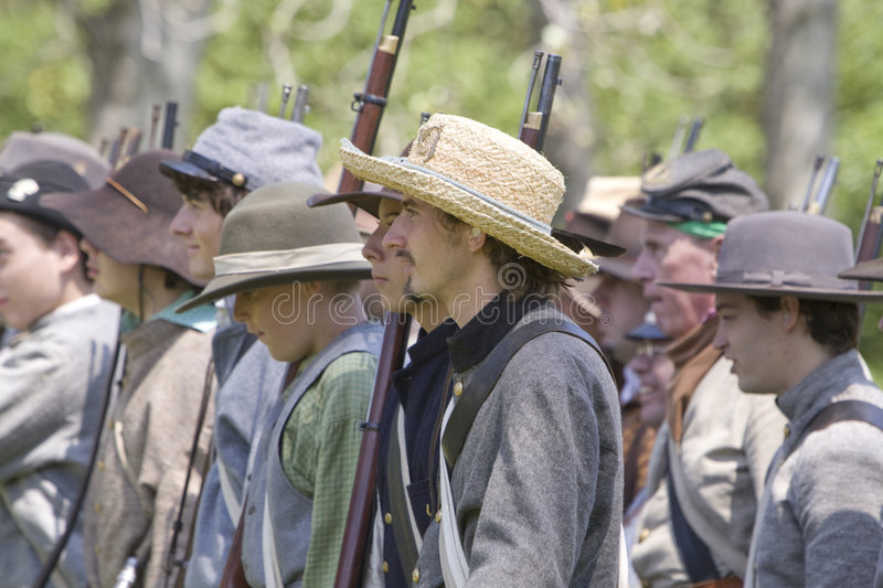 HB Civil War Re-Enactment 3058 royalty free stock photo