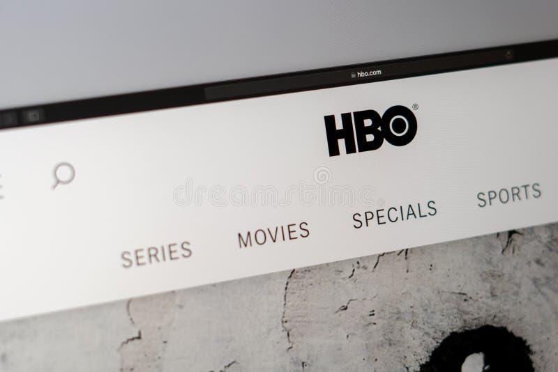 HBO公司网站主页 ??HBO?? 库存图片