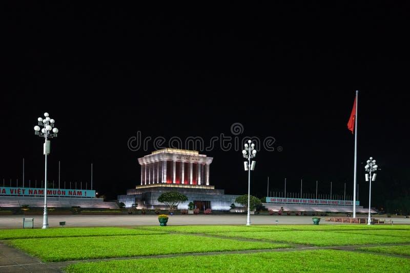 HCM陵墓-河内都市风景 免版税库存图片