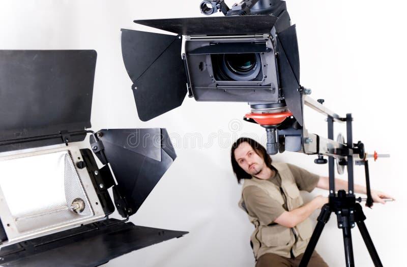 Hd camcorder op kraan royalty-vrije stock foto's