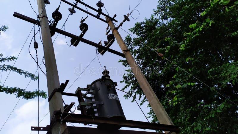 Hd eléctrico del pueblo de Vidyut del transformador fotos de archivo