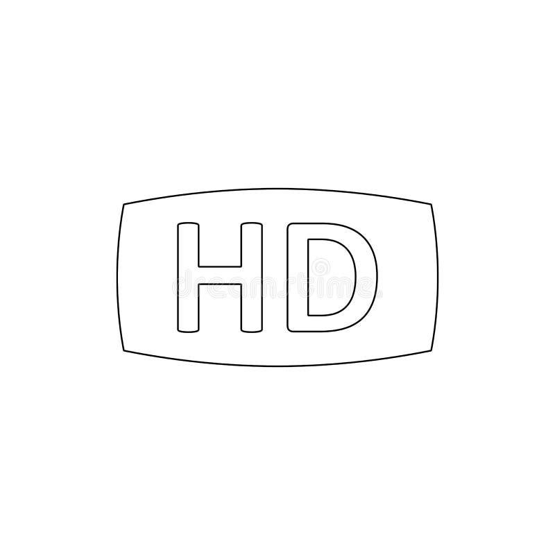 Hd-Film-Entwurfsikone Zeichen und Symbole k?nnen f?r Netz, Logo, mobiler App, UI, UX verwendet werden vektor abbildung